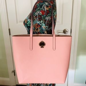 Kate spade Suzy ns tote cosmetic pink large new
